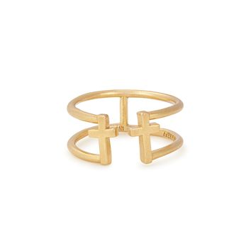 Cross Adjustable Ring