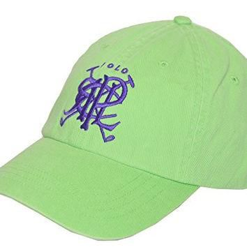 Polo Ralph Lauren Mens Cross Mallets Chino Sports Cap (OS, Green/Violet)