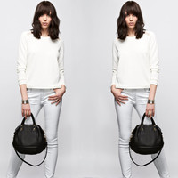 Leather Handbag Opelle Vanda Mini in Black pebbled leather NEW ss2013
