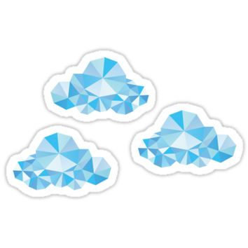 'Diamond Clouds in the Sky Pattern' Sticker by XOOXOO