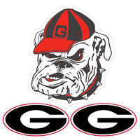 Georgia Bulldogs NCAA Ultimate Car Magnet Kit (3Pc Set)