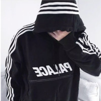 Autumn and winter hoodies PALACE reflective ribbon Hooded jacket men and women sweater