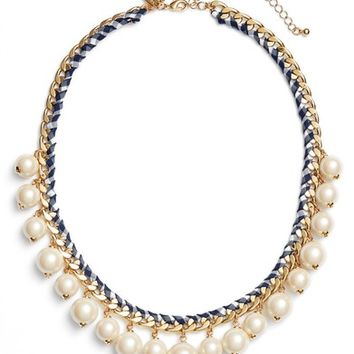kate spade new york pretty pearly imitation pearl necklace | Nordstrom