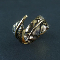 Feather Ring - Bronze Feather Ring