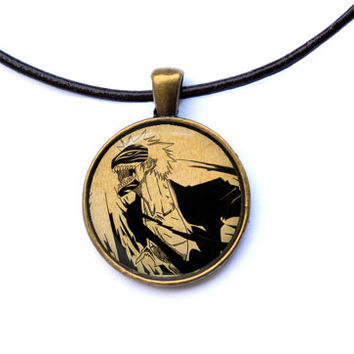 Anime jewelry Hollow Ichigo necklace Bleach pendant