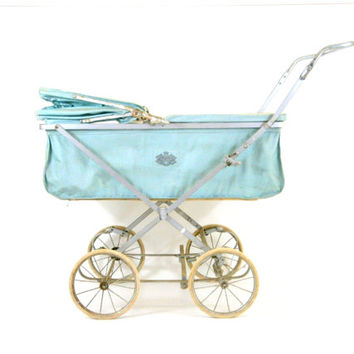 Pram English Baby Buggy Vintage Baby Carriage Full Size Infant Stroller