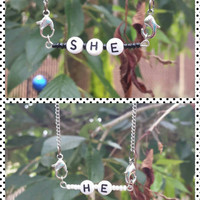 Genderfluid interchangeable charm necklace
