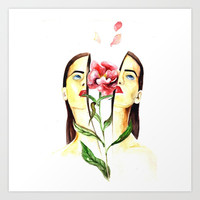 Coming Up Roses Art Print by MIKART