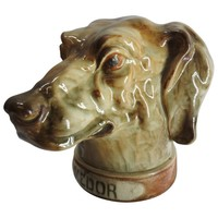 St. Clement French Majolica Hunting Dog Tobacco Humidor
