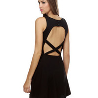 Cute Black Dress - Open Back Dress - Little Black Dress - $39.00
