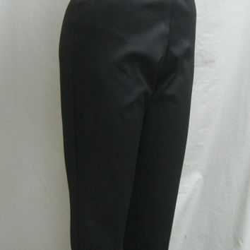 "HOT! Vintage 50s DEADSTOCK True High Waist Sexy Stretch Rockabilly CAPRIS Cigarette Slacks Pants W. 27""-31"""