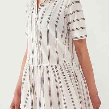BDG Kennedy Striped Drop-Waist Mini Dress | Urban Outfitters