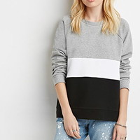 Colorblock French Terry Pullover