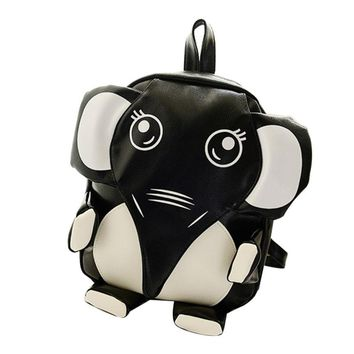 new fashion women backpack leather designer Elephant Backpack Boys Girl Students School Bags Casual Bookbags #6M
