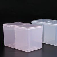 Pink Clear Empty Storage Box Nail Art Items Makeup Cotton Cosmetic Organizer Container Holder Nail Art Tool Accessories SA013
