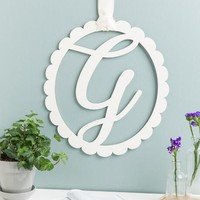 """G"" Scalloped Initial Wall Hanger"