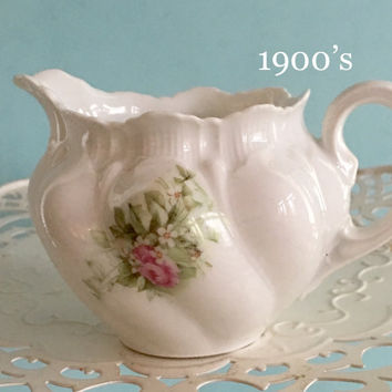 Vintage Pink Rose Creamer, Bridal Shower Tea, Baby Girl Shower, Antique China, Shabby Cottage Chic Decor, Gift