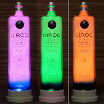 Ciroc Snap Frost Vodka 1.75 Liter Color Changing Remote Control LED Bottle Lamp Bar Light Man Cave Light