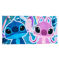 Stitch and Angel Beach Towel - Personalizable