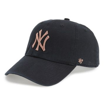 '47 NY Yankees Metallic Embroidery Baseball Cap | Nordstrom