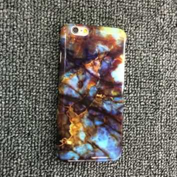 Retro Vivid Marble Pattern iPhone 5s 6 6s Plus Case Cover