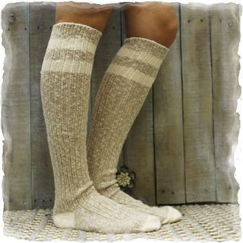 Boot Socks, FREE SPIRIT, socks for boots, lace socks, crochet, knee high, winter, cuffs | BKS1