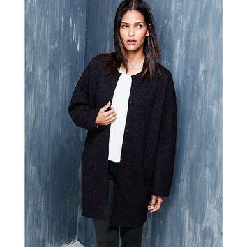 Eileen Fisher Boiled Wool Cocoon Coat