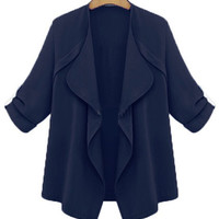 Half Sleeve Lapel Irregular Jacket