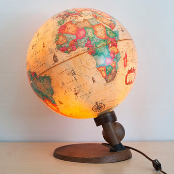 Vintage Danish Scan Globe A/S Light Up Globe, World Antique SPOT Globe, Light Focus Point, Made in Denmark