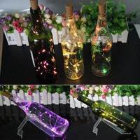 ITimo Cork Shaped LED String Lamps Wine Bottle Stopper Light For Bar Xmas Party Wedding Decoration Copper Wire Garland