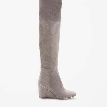 COS Over knee high suede boot