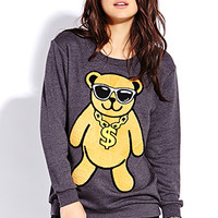 Fuzzy Money Bear Sweatshirt