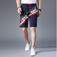 FENDI Beach Shorts Fashion Casual Summer Wear Holiday Vacation
