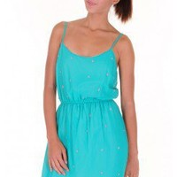 TEAL BEADING DETAILED CAMI DRESS @ KiwiLook fashion