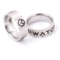 Overwatch Logo Stainless Steel Ring