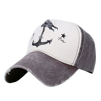 new Style the Pirate Ships Anchor Printing Adjustable Cap