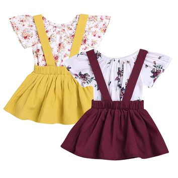 Dorys Suspender Skirt 2 pc Sets
