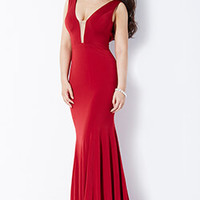 Sleeveless Jersey Prom Dresses 22884