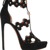 Alaïa - Laser-cut suede sandals