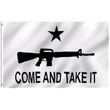 """World Cup Come and take it Flags, 3 By 5 Foot ,""""MOLON LABE"""" FLAG, With Brass Grommets Drop Shipping"""