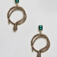 ALDO Crareven Snake Hoop Earrings at asos.com