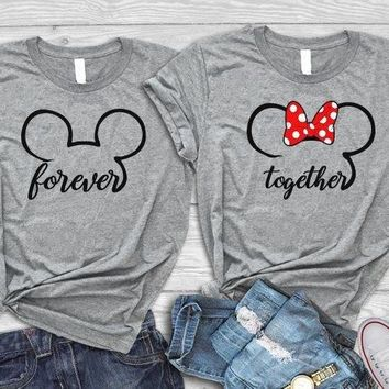 Disney Wedding Couples Matching Shirts Together Forever