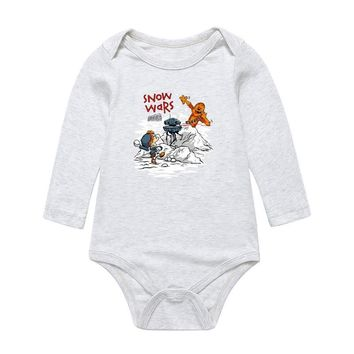 Star Wars Force Episode 1 2 3 4 5 Baby Cartoon  Print Bodysuits Cute Infant Newborn Boys Girls Long Sleeve Clothes Jumpsuits Pure Cotton Toddler Playsuit AT_72_6