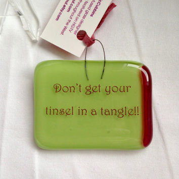 Tangled Tinsel Mini Stand-up Plaque