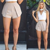 Stylish Ruffle Casual Pants Shorts [7767310535]