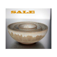 SHIPS NOW~ sara palomas nest bowls. modern white ceramics and pottery. home decor.