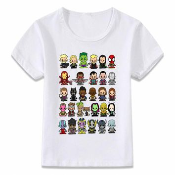 Kids Clothes T Shirt Little Avengers Infinity War Thanos Boys and Girls Toddler Shirts Tee