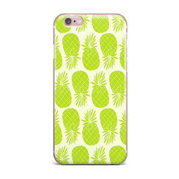 "Anchobee ""Pinya Lime"" Green Pattern iPhone Case"