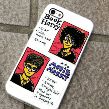 Harry Potter The Different Book-Movie Character- for iPhone 4/4s/5/5c/5s, Samsung S3/S4 case cover, gift under 25