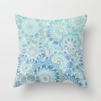 Flying West Throw Pillow by micklyn